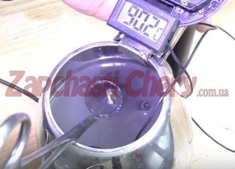 Нагреваем воду до момента открывания клапана